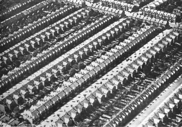 Aerial View of Working Class Slum, Tooting, 1935